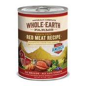 Whole Earth Farms Grain Free Natural Food For Dogs With Added Vitamins & Minerals