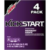 Mtn Dew Kickstart Midnight Grape Sparkling Juice Beverage
