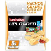 Lunchables Nachos Grande Meal Kit with Water, Fruit by the Foot Fruit Roll-Up Candy & Kool-Aid Tropical Punch Single