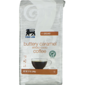 Food Lion Coffee, Buttery Caramel, Medium, Ground, Bag