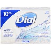 Dial Antibacterial Deodorant Bar Soap, White