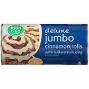 Food Club Deluxe Jumbo Cinnamon Rolls With Buttercream Icing