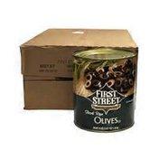 First Street Sliced Ripe Olives, Case