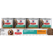 Hill's Science Diet Dog Food, Premium, Chicken & Vegetable Entree, Perfect Weight, Adult