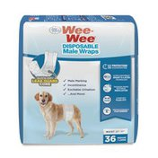 Four Paws Medium to Large Wee-Wee Disposable Male Wraps for Dogs