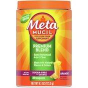 Metamucil Psyllium Fiber Powder, Sugar-Free With Stevia, Natural Orange Flavor,
