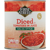 First Street Tomatoes In Juice, Diced, Salsa Style