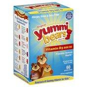 Yummi Bears Vitamin D3, 600 IU, Gummy Bears, Fruit Flavor