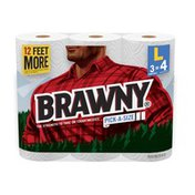 Brawny Large Pick-A-Size White Paper Towel Rolls
