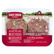 Shady Brook Farms Cranberry & Jalapeno with White Cheddar Cheese Turkey Patties