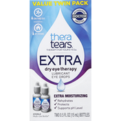 Thera Tears Eye Drops, Lubricant, Value Twin Pack