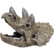 Blue Ribbon Pet Products Small Gray Triceratops Skull Aquarium Ornament