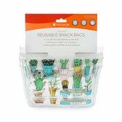 Full Circle Ziptuck, Reusable Snack Bags, Cactus Party
