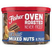 Fisher Oven Roasted Never Fried Deluxe Mixed Nuts with Sea Salt