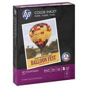 HP Paper, Color Inkjet, 24 lb