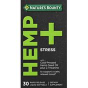 Nature's Bounty Hemp + Stress, Rapid Release Liquid Softgels