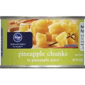 Kroger Pineapple, Chunks, in Pineapple Juice