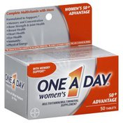 One A Day Complete Multivitamin, 50+ Advantage, Tablets