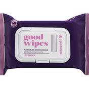Goodwipes Wipes, Flushable & Biodegradable, Lavender