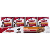 Hill's Science Diet Dog Food, Ground, Light, with Liver, Adult 1-6