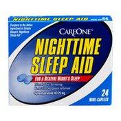 CareOne Nighttime Sleep Aid, 25 mg, Caplets