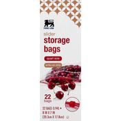 Food Lion Storage Bags, Slider, Quart Size