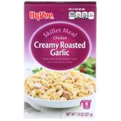 Hy-Vee Chicken Creamy Roasted Garlic Penne Pasta & Roasted Garlic Sauce Skillet Meal