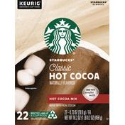 Starbucks Classic Hot Cocoa Mix K-Cup Pods