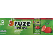 Fuze Iced Tea Strawberry Red Tea - 12 PK
