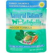 Natural Balance Dick Van Patten's Platefulls Indoor Formula Turkey, Salmon & Chicken in Gravy  Cat Food