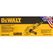 Dewalt Angle Grinder, Paddle Switch, Small, 4-1/2 Inches