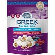 Rickland Orchards Greek On The Go! Greek Yogurt Coated Mixed Berry Acai Granola Bites