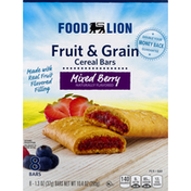 Food Lion Cereal Bars, Fruit & Grain, Mixed Berry, 8 Bars