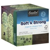 Essential Everyday Facial Tissues, Premium, White, Two-Ply