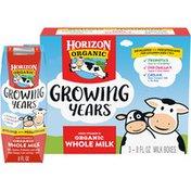 Horizon Organic Growing Years High Vitamin D Organic Whole Milk