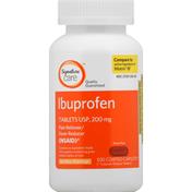 Signature Care Ibuprofen, 200 mg, Coated Caplets