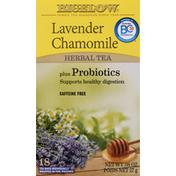 Bigelow Lavender Chamomile Herbal Tea,Tea Bags Plus Probiotics