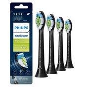 Philips Sonicare DiamondClean replacement toothbrush heads, HX6064/95, BrushSync™ technology, Black