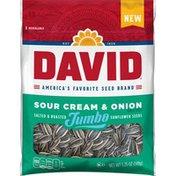 DAVID Seeds Sour Cream And Onion Salted And Roasted Jumbo Sunflower Seeds