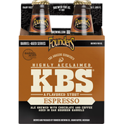 Founders Beer, A Flavored Stout, Espresso, 4 Pack