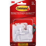 3M Command Utility Hooks, General Purpose, Small, Multi-Pack