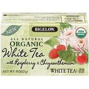 Bigelow White Tea w/Raspberry & Chrysanthemum .91 Oz Organic Tea Bags