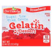 Our Family Strawberry Sugar Free Gelatin Dessert