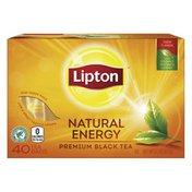 Lipton Black Tea Bags Hot Or Iced Natural Energy