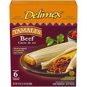 Delimex Beef Tamales Frozen Snacks