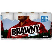 Brawny Pick-A-Size Paper Towels, 8 Double Rolls, 2-Ply
