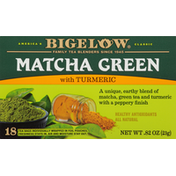 Bigelow Matcha Green Tea, with Turmeric, Tea Bags