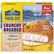 Gorton's Thick Cut Crunchy Breaded 100% Alaska Pollock Fillets
