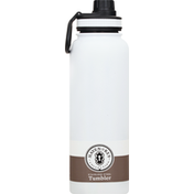 Haven & Key Tumbler, Stainless Steel, White Pearl, 40 Ounce