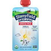 Stonyfield Organic Whole Milk Vanilla Yogurt